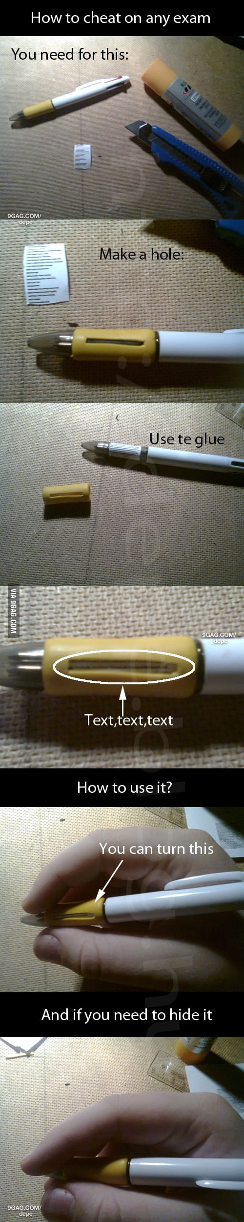 How to cheat on any exam?