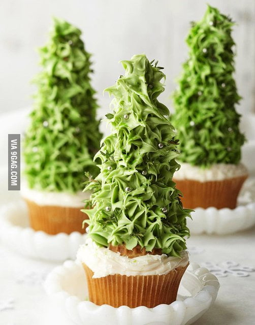 Awesome Christmas cupcake is awesome