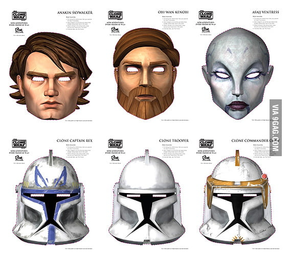 Star Wars' Clone Wars masks