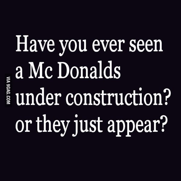 Wait... McDonald's under construction?