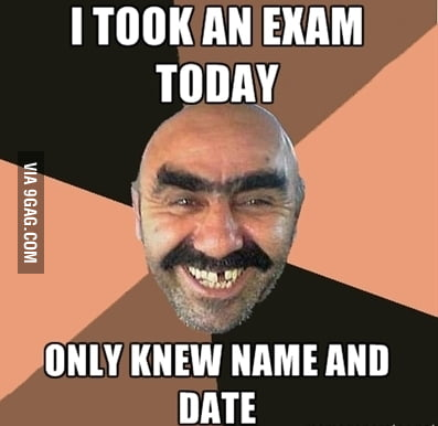 I took an exam
