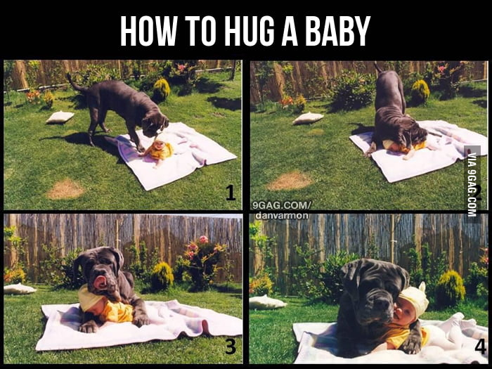 How to hug a baby