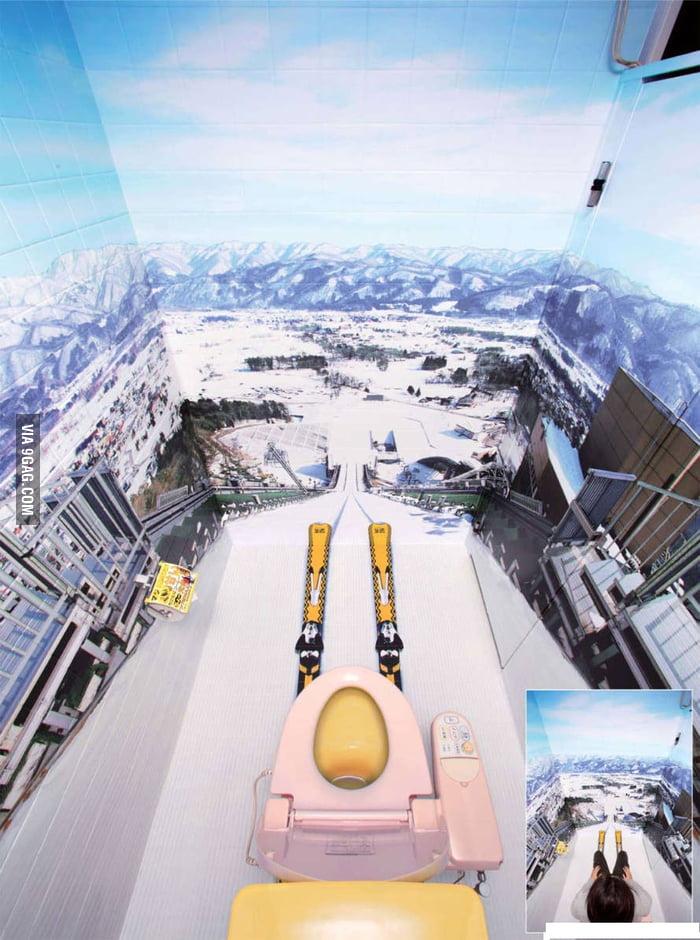 Distracting toilet