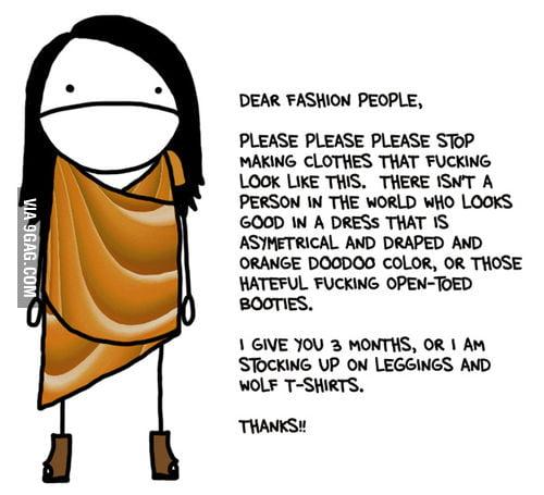 Dear fashion people