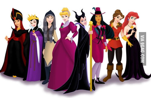 Disney Princesses as their movie villains