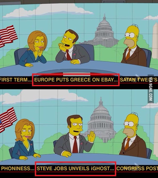 Just news from the latest Simpsons episode...