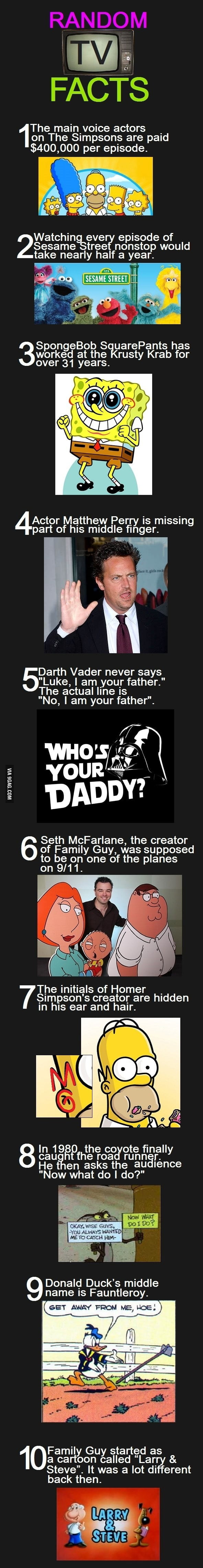 Random TV Facts