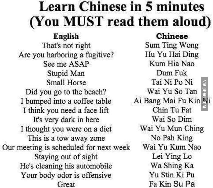 Learning chinese like a boss