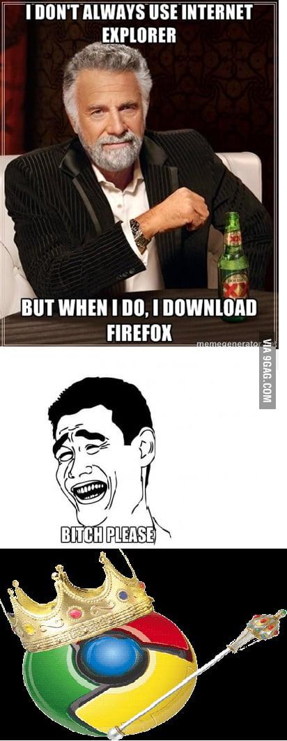 Firefox? B*tch please