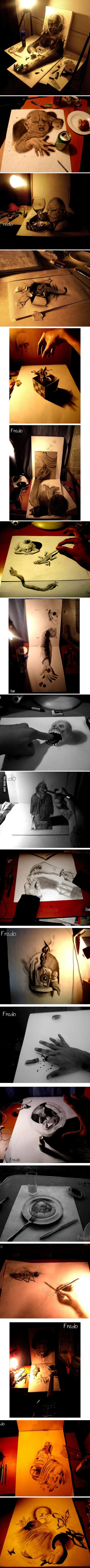 Mind-Blowing 3D Pencil Drawings!!