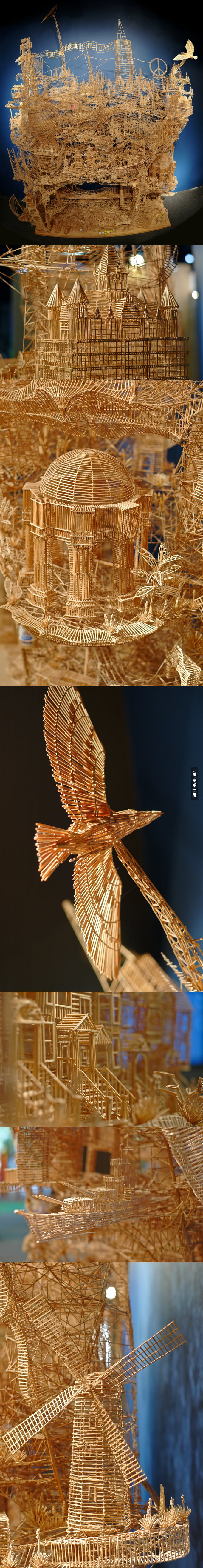 One man, 100,000 toothpicks, and 35 years.