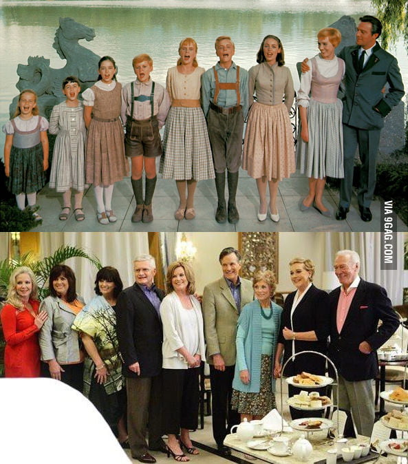 "The reunion of ""The Sound of Music"" family after 45 years..."