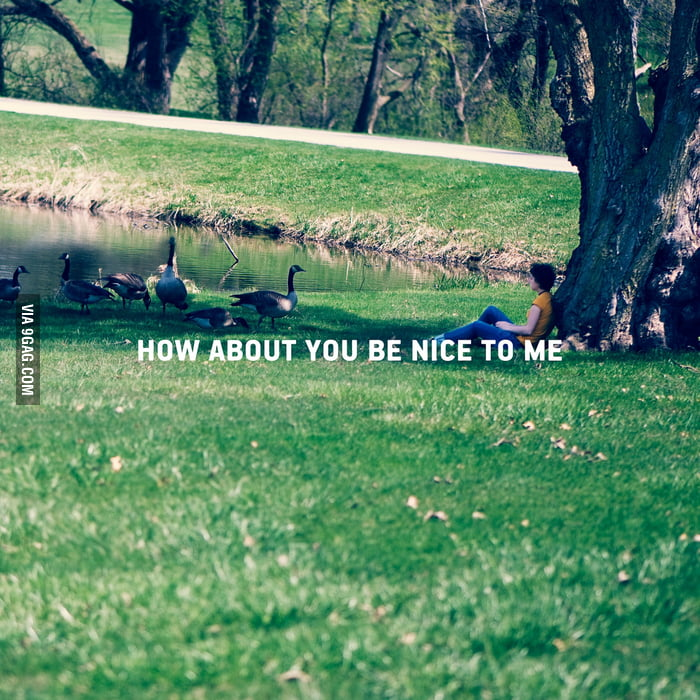 How about you be nice to me