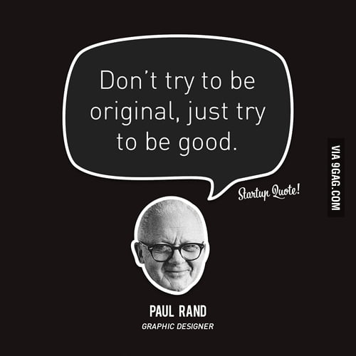 Just try to be good