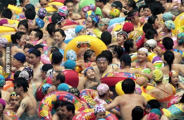 Japanese like swimming!