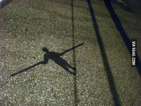 Shadow Art: Walking On Wire