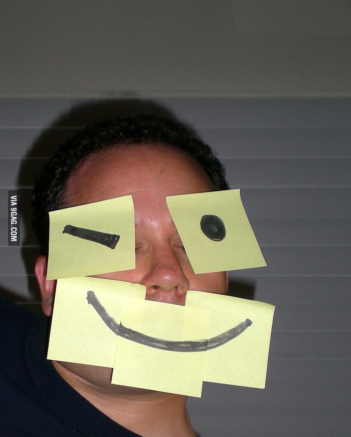 Never sleep when your friends got Post-it