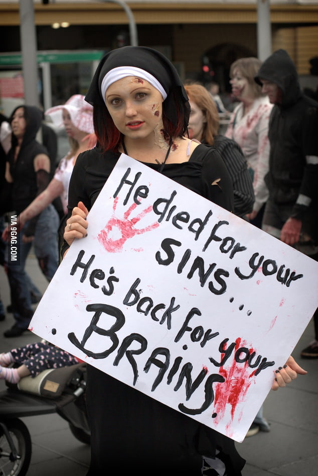 He died for your sins...