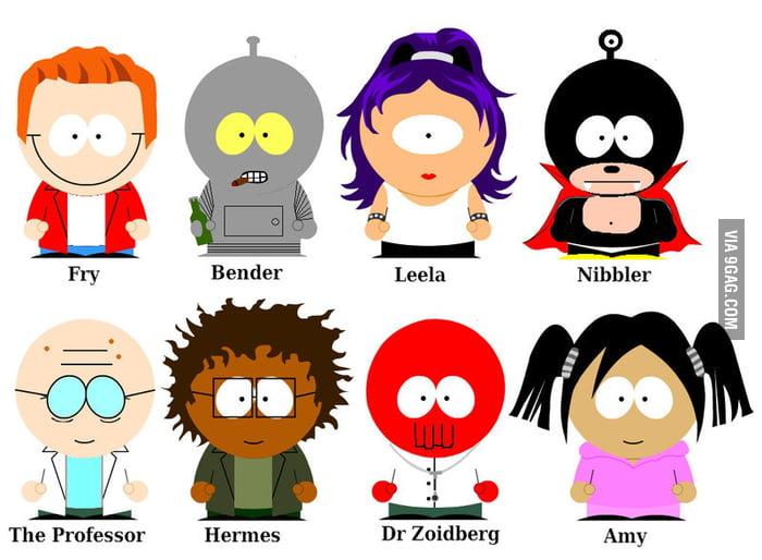 Futurama South Park