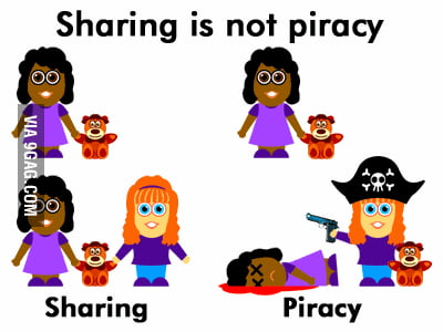 Sharing is not piracy