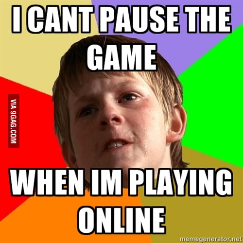 I CANT PAUSE THE GAME