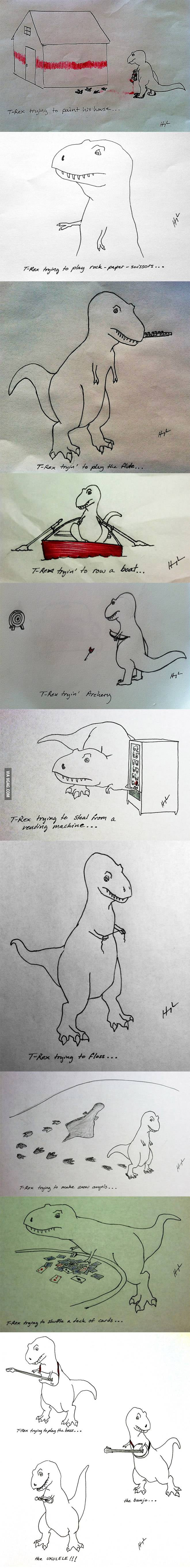 T-Rex trying to do stuff...