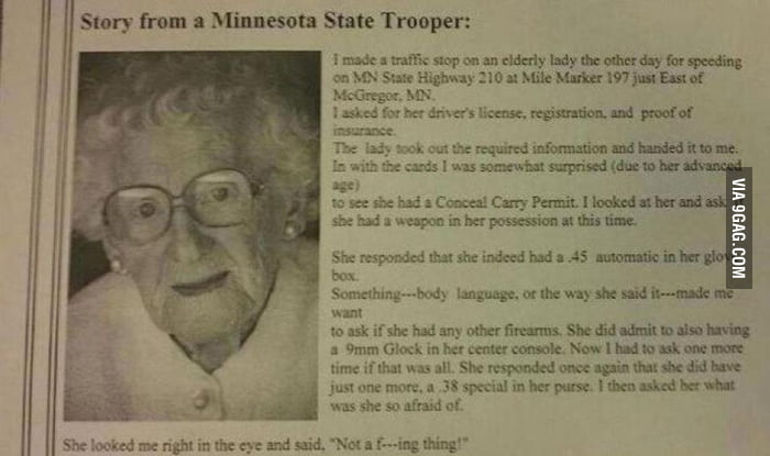 Awesome grandma...