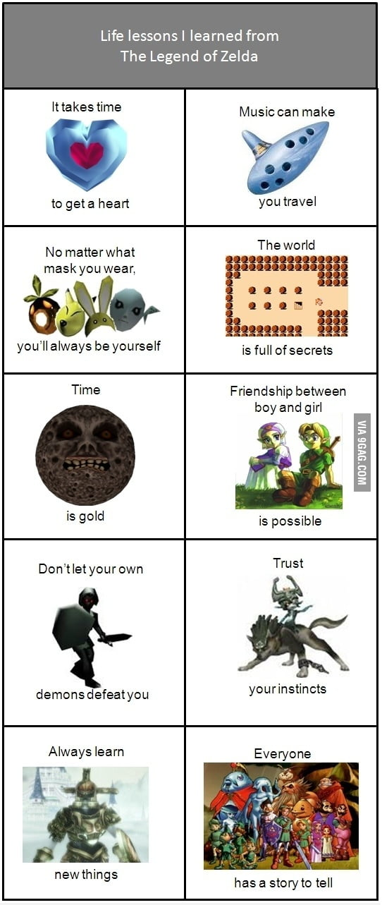 Life lessons from The Legend of Zelda