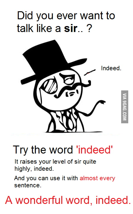Talking like a sir: How-to
