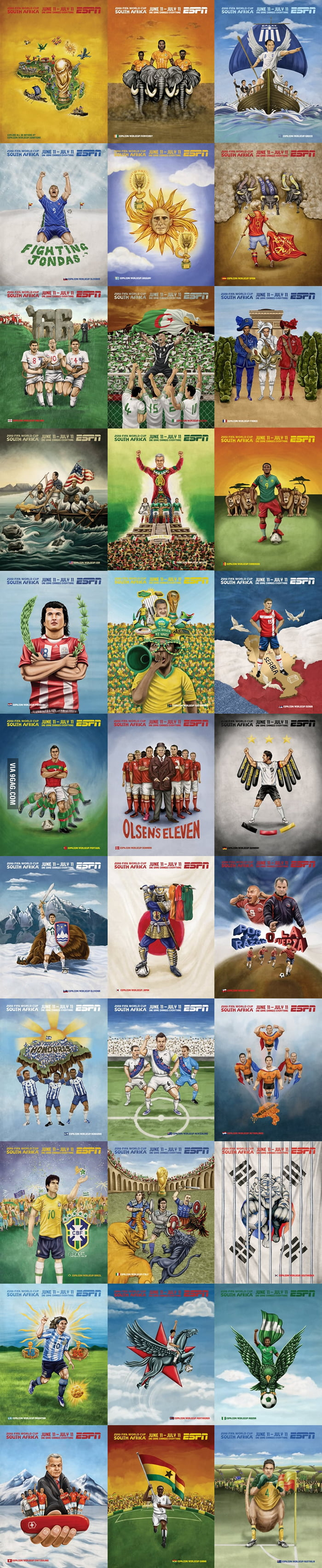 2010 FIFA World Cup Illustrations