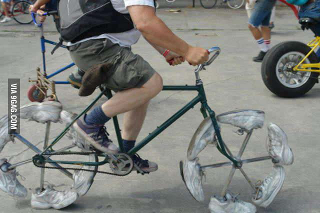 Because Bicycle wheels are too mainstream.