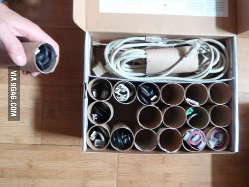 Sick of having a box full of tangled cords?