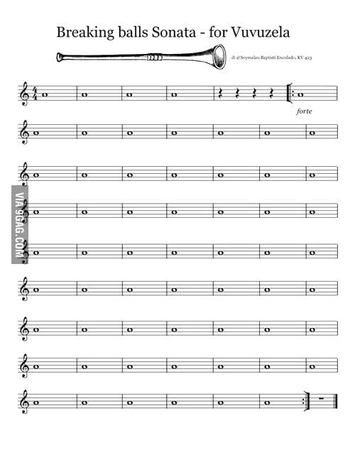 Breaking Balls Sonata for Vuvuzela