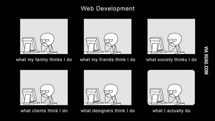 I'm a webdeveloper and this is what I do