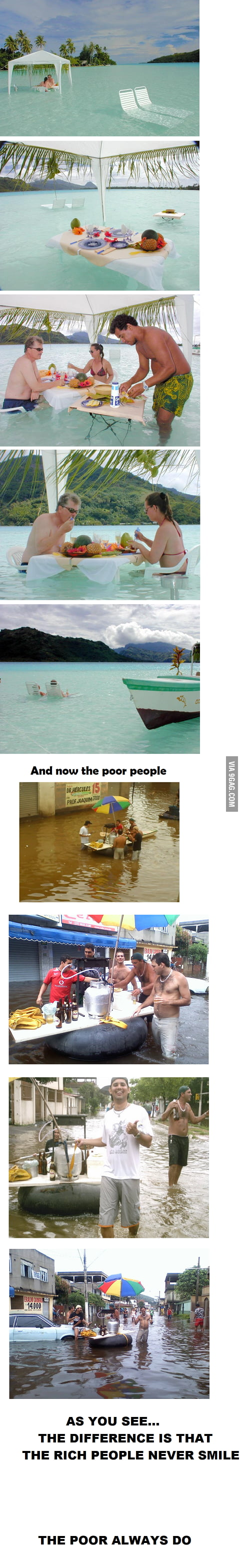 The difference between rich and poor