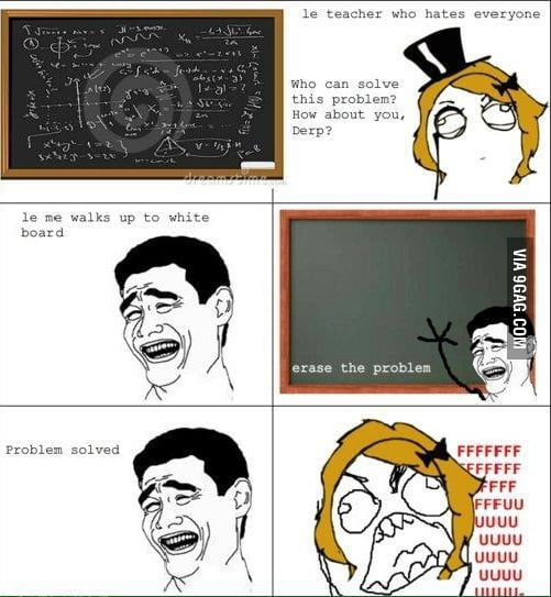 Teacher, problem solved!