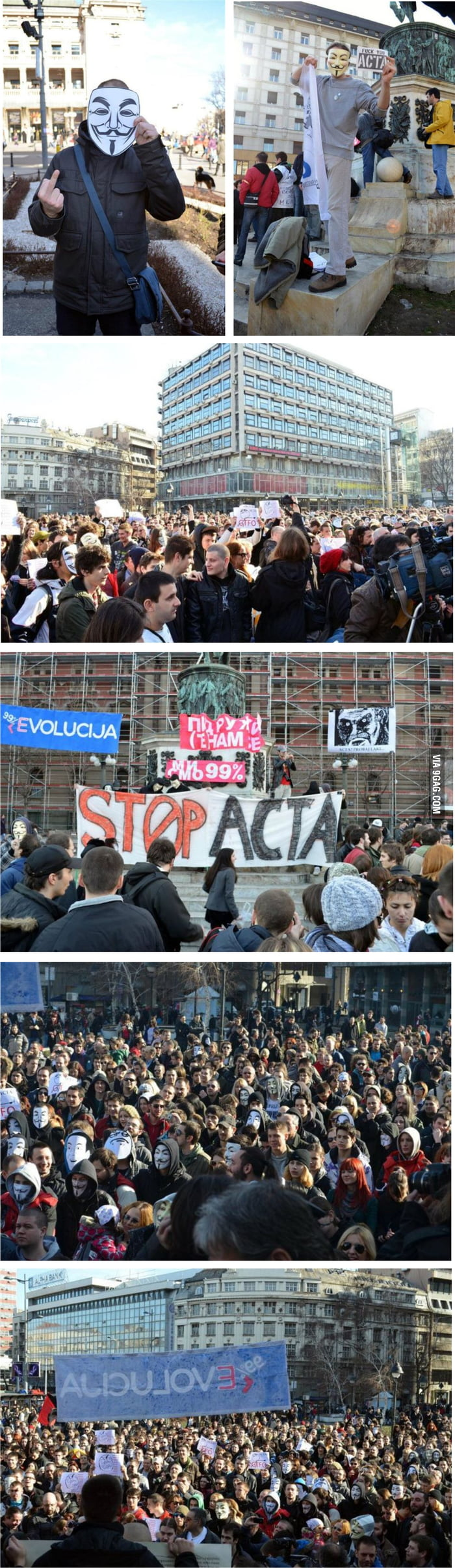 Just protests against ACTA in Belgrade..
