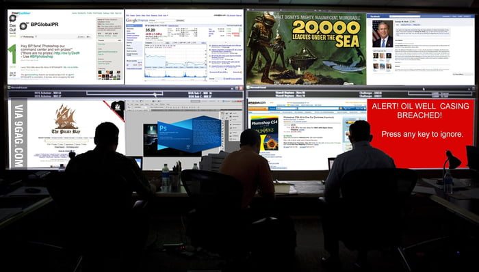 Meanwhile, at the BP command center...