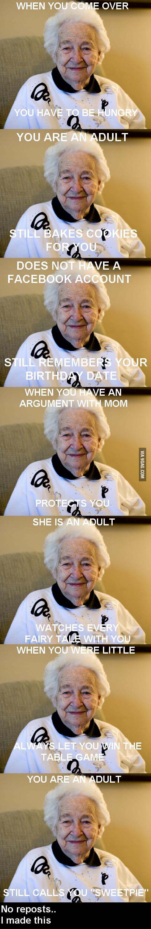 Good grandma Gertruda