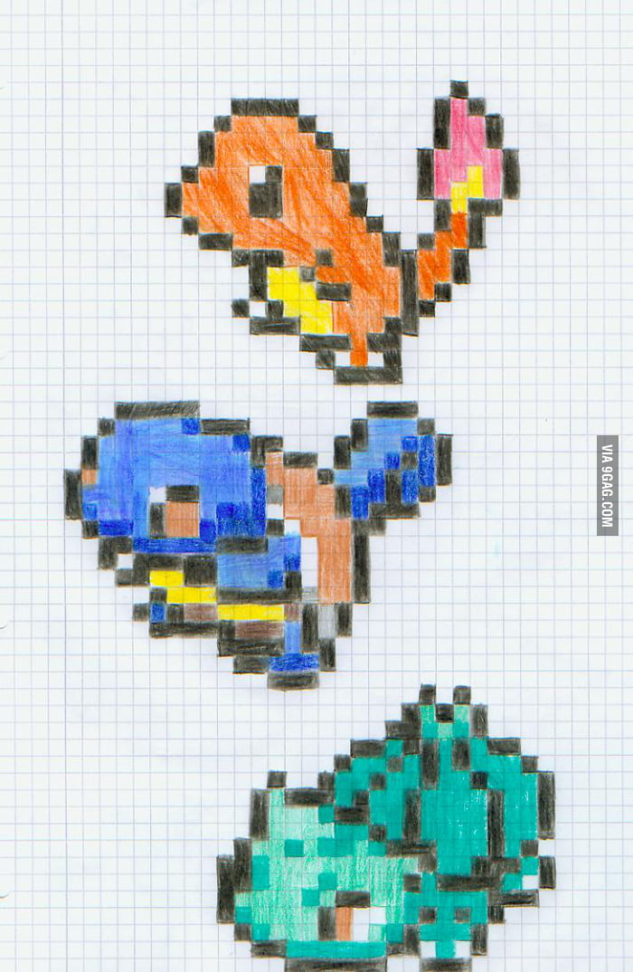 Pokemon Pixelart  Charmander Charmeleon amp Charizard How to Draw 8bit Pokemon