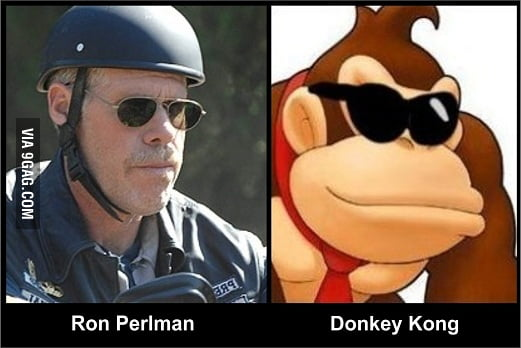 Not sure if Ron Perlman or Donkey Kong