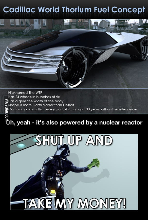 Darth Vader found his car.