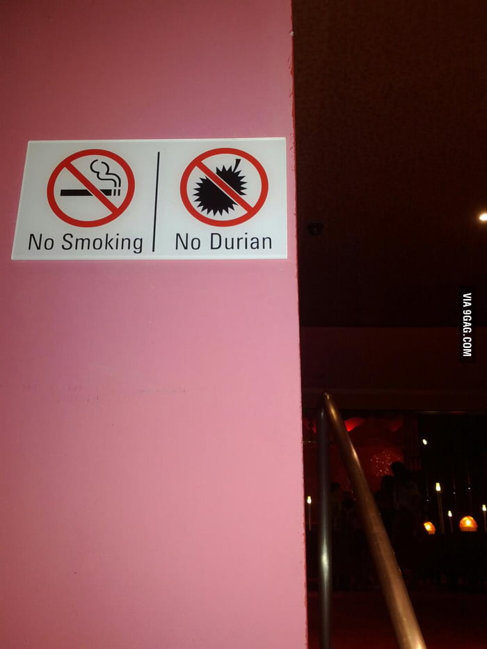 No Smoking | No Durian