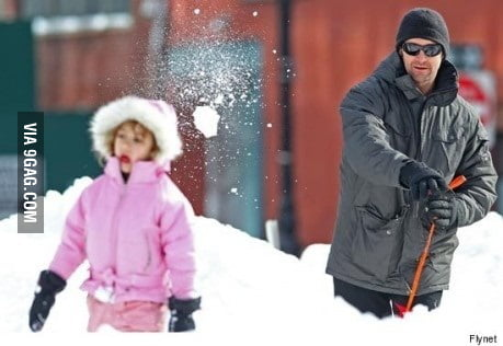 Parenting lvl: Hugh Jackman