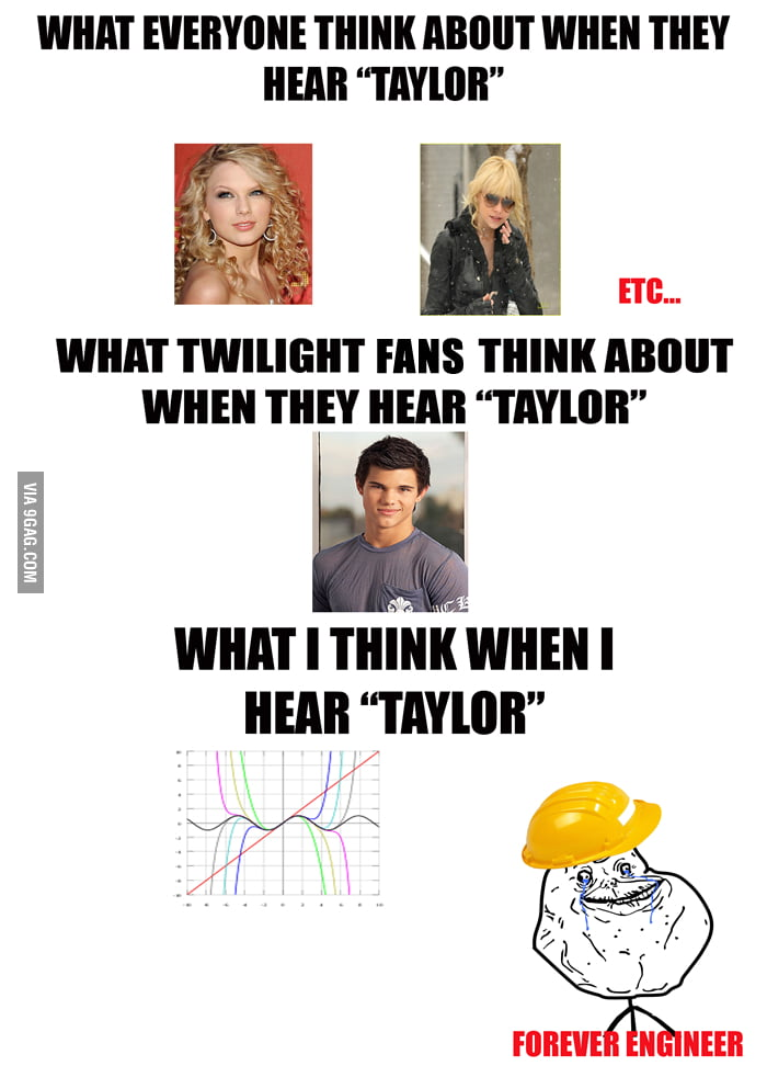 "What everyone thinks about when they hear ""Taylor""..."