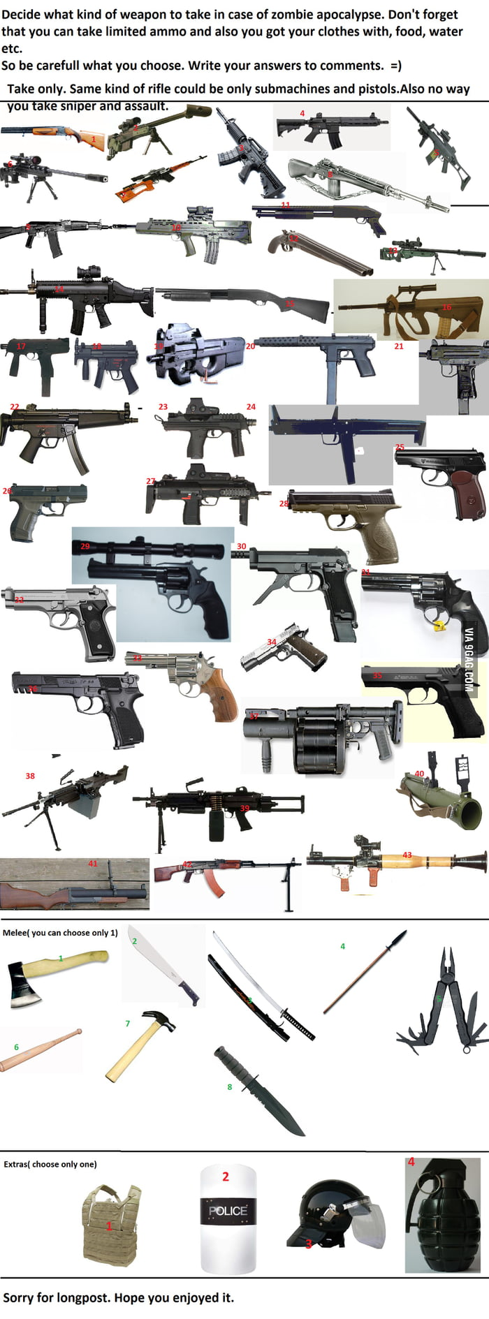 zombie weapons ...