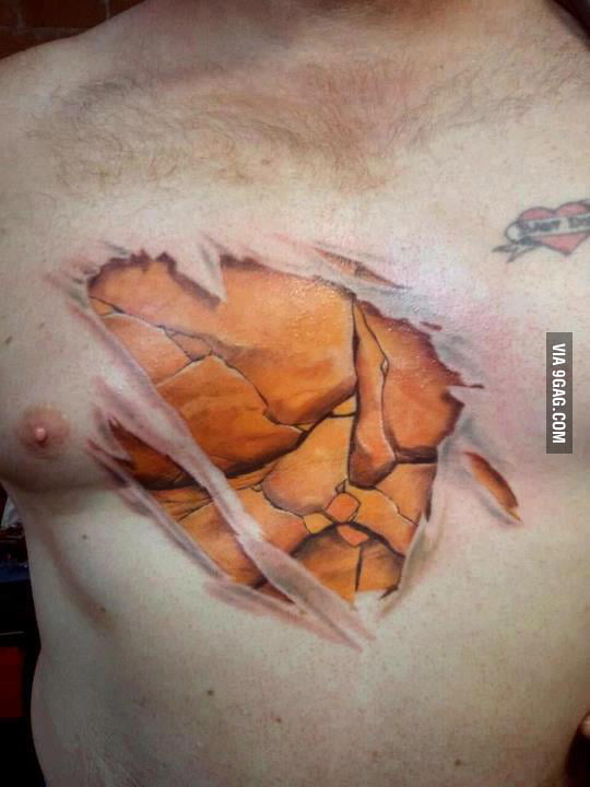 The Thing Tattoo LVL - over 9000