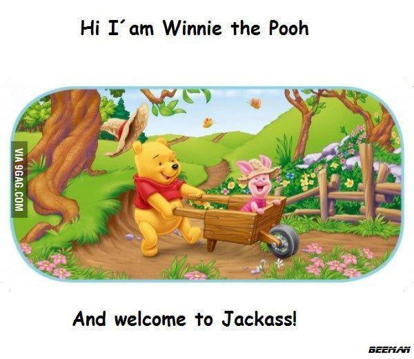 Winnie the Pooh knows jackass
