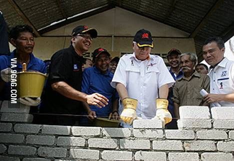 Malaysian Prime Minister. BRICK FAIL~