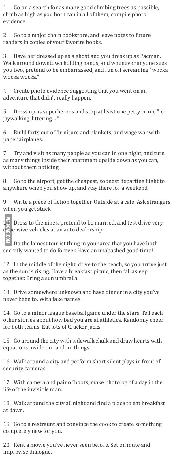 Unusual (and fun!) Date Ideas